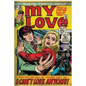Marvel Comics Retro My Love Comic Book Cover #19, Pushing Away, I Can