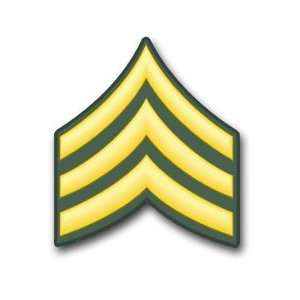US Army Sergeant E 5 Rank Insignia vinyl transfer decal sticker 3.8 6