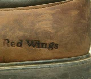 old vintage USA made Red Wing steel toe brown lacer work motorcycle