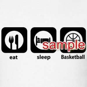 EAT SLEEP BASKETBALL WHITE VINYL DECAL STICKER