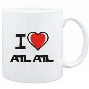 Mug White I love Atlatl  Sports:  Sports & Outdoors