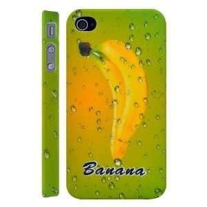 Banana Fruit Pattern Plastic Hard Case for iPhone 4