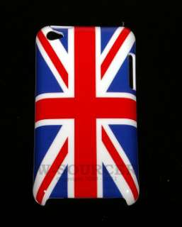 United Kingdom UK Flag Hard Back Cover Case 4 Apple iPod Touch 4th
