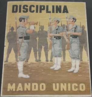 SPANISH CIVIL WAR POSTER, DISCIPLINA MANDO UNICO, REPRODUCTION