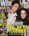 WHO MAGAZINE Oct 2009 Australian issue Rob Pattinson Kristen Stewart