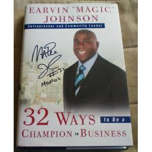 RARE Earvin Magic Johnson Autographed Book MNT Sports