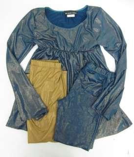 LOT3 UN DEUX TROIS Girls Metallic Shirt Pants M L XL