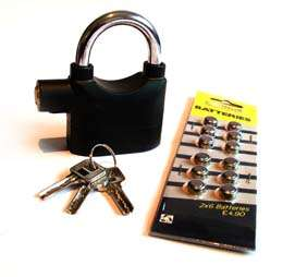 Home Security Alarm Padlock Garden Shed Garage Bike Pad Locks
