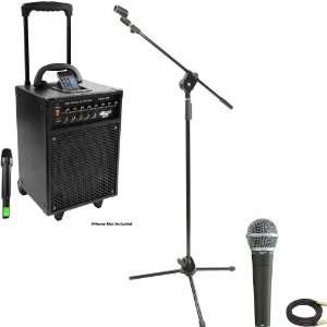 Pyle Speaker, Mic, Cable and Stand Package   PWMA930I 600
