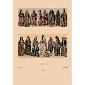 Traditional Turkish Women 12x18 Giclee on canvas: Home & Kitchen