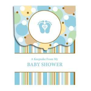 tiny toes baby boy feet babies blue footprint cupcake wrapper set