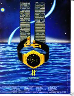 1986 HUBLOT WATCH Vintage Print Ad Twin Towers?