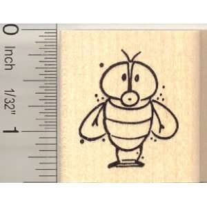 Cute House Fly Rubber Stamp Arts, Crafts & Sewing