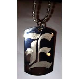 Font Initial   Military Dog Tag, Luggage Tag Key Chain Metal Chain
