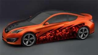 CAR VINYL GRAPHICS CARBON FLAMES WRAP TRUCK 057 1