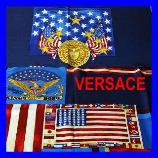 GIANNI VERSACE Atelier Versace UNITED STATES SILK SCARF