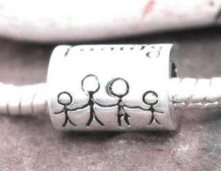 925 SILVER BEAD EUROPEAN CHARM HAPPY FAMILY KIDS #103