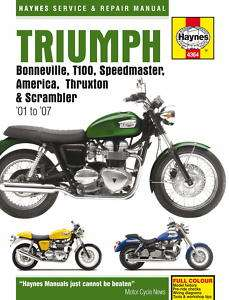 HAYNES WORKSHOP MANUAL for TRIUMPH BONNEVILLE 2001 2007