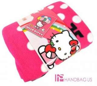 NWT Sanrio HELLO KITTY Balloon Plush THROW Pink Large FLEECE Bed