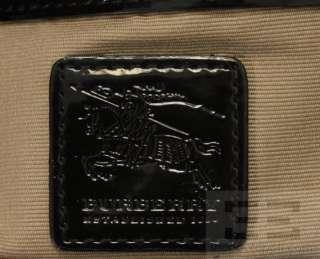 Burberry Beige Nova Check Coated Canvas & Black Patent Trim Shoulder