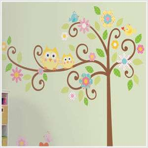 New Giant SCROLL TREE Wall Mural Decals Vinyl Stickers 034878616018