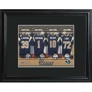 Wedding Favors St. Louis Rams Personalized NFL Locker Room