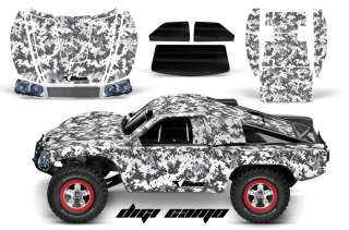 RC GRAPHIC DECAL KIT UPGRADE   TRAXXAS SLASH 4X4 BODY  DIGICAMO WHITE