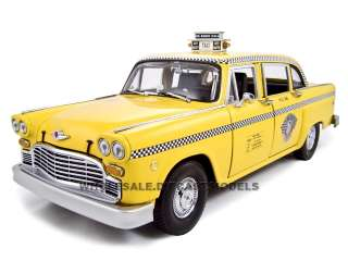 1981 NEW YORK TAXI CAB CHECKER 1/18 MODEL CAR
