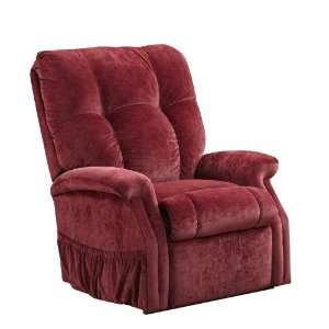 Back Reclining Lift Chair Fairview by Microfibers Wine