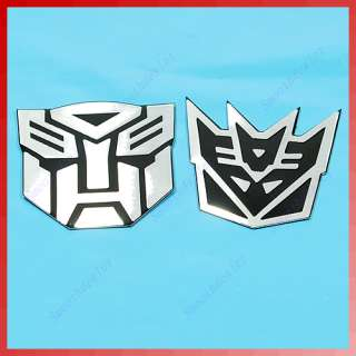 Decal Car Bike Sticker Transformers Decepticon Autobot Emblem Badge BK