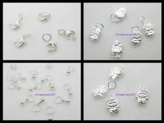 designs Charm Pendant With ring 925 Sterling Silver Fit necklace