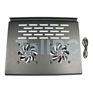Black Laptop Notebook USB 2 Fan Cooler Cooling Pad New