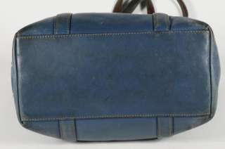 Coach Blue Leather Soho Tote Shopper Carry All Shoulder Bag Handbag