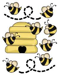 BEE HIVE BABY GIRL NURSERY WALL STICKERS DECALS DECOR