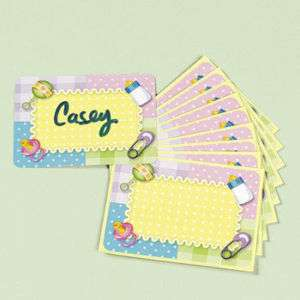 24 Pastel Baby Shower Party GUEST NAME TAGS   NEW