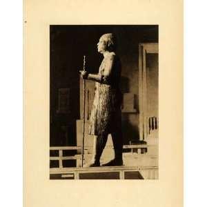 1903 Photogravure Sheikh Beled Giza Museum Wood Statue Ka