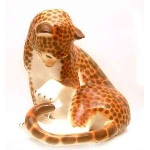 Large Leopard Lomonosov Porcelain Figure