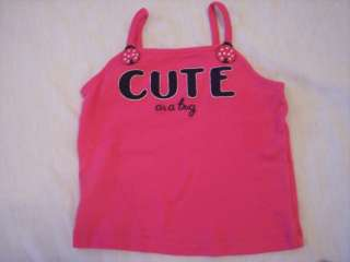Gymboree Cape Code Cute ladybug tank top shirt & shorts ~ 2 2T