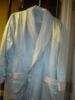 Victorias Secret Satin/Fleece Robe W/O BELT XS/S PBlu