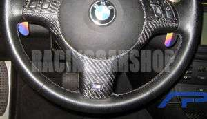 BMW E46 E39 M3 REAL Carbon Steering Wheel Cover 98 04