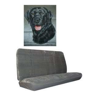 Car Truck SUV Black Lab Dog Print Rear Bench or Small