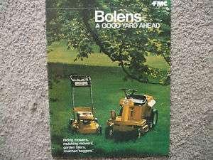 Vintage Bolens Mowers Tillers sales brochure Literature