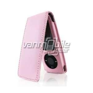 VMG Apple iPod Nano 5 5th Generation 8GB 16GB Leather Case   Baby Pink