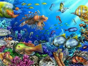 BARNES & NOBLE  Sea Horsing Around 300 pc large format puzzle by