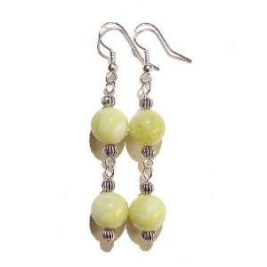 The Black Cat Jewellery Store Lemon Jade & Tibetan Silver