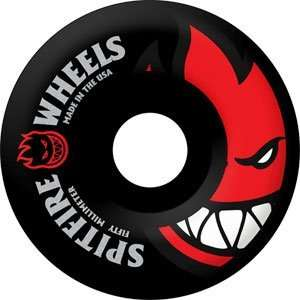 Spitfire Bighead Black II 50mm Black/Red Skateboard Wheels
