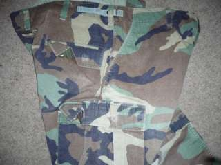Military BDU Pants Camo Cargo Trousers Large Short 317