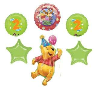 WINNIE THE POOH 2nd birthday balloons party supply two