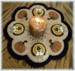 Thanksgiving Penny Rug/Candle Mat *PATTERN*