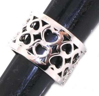 R689 9   NEW FILIGREE ETERNITY HEARTS WEDDING BAND RING SIZE 9